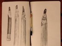 Pencils hand