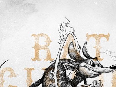 Rat Circus illustration textures album art designers mx