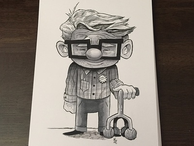 Little Carl  illustration inktober brushpen copicmarkers ink drawing up pixar
