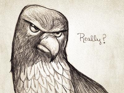 Henery Hawk really illustration hawk chickenhawk reaction to sarah palin