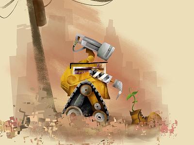 Wall•e pixar digital wall-e illustration