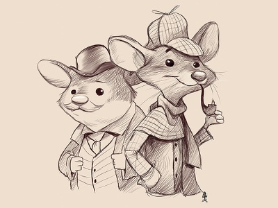 Basil of Baker Street dawson basil mice illustration
