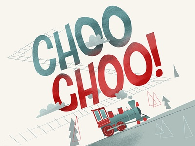 Choo choo childrens book hand drawn type trains choo steam train train