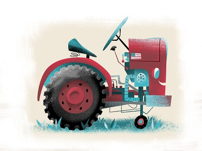 Barn Red Tractor childrens book tractor barn red