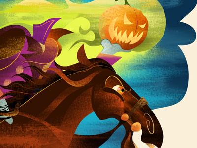 Headless illustration headless horseman halloween textures horse