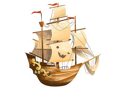 Never Say Die! sailboat sail ship ship pirate ships tiny ships goonies