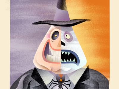 The Mayor illustration mayor nightmare before christmas textures