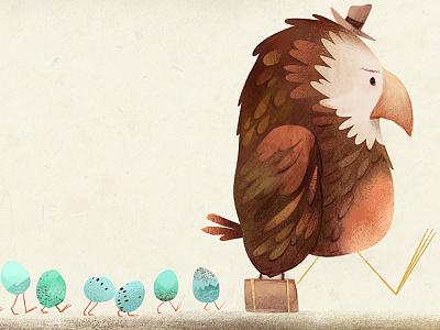 Walking into 2017 childrens book illustration birds illustration
