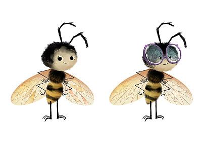 Honeybee Characters honeybee childrens book illustration illustration