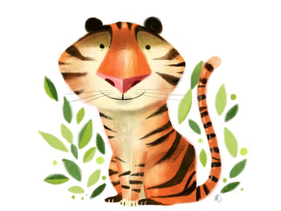Little Tiger procreate character design childrens book tiger