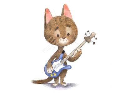 Bass Kitty kitten characterdesign childrensbook kidlit