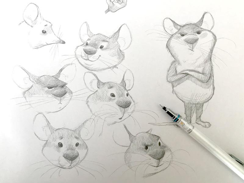 Mouse character kidlit childrens book mice illustration