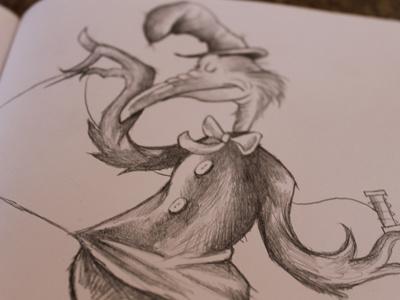 Slow Joe Crow illustration childrens book illustration dr. seuss slow joe crow fox in socks