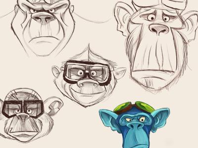 Airborne illustration flying monkeys oz monkeys sketches character design