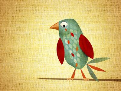on a limb illustration textures animal bird limb