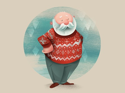 sweater illustration childrens book holiday holidays santa