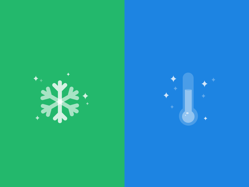 Cooling snowflake thermometer star ui drogohui