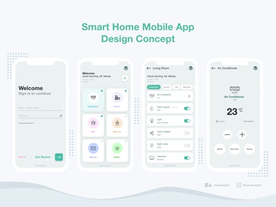 Smart Home Mobile App Design Concept