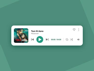 music player app ui theme