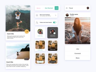 ui kit for travel app :)