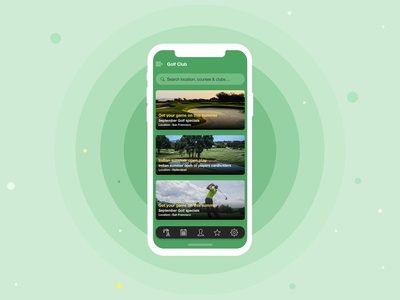 Golf Course - mobile app design