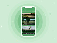 Golf Course - mobile app design