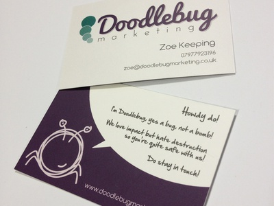Doodlebug Marketing Business Cards