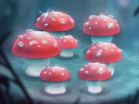 Fantasia Dancing Mushrooms disney photoshop procreate illustration