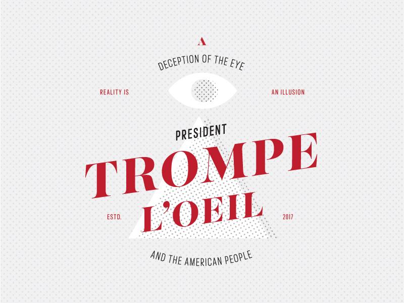 President Trompe political trump majesti banner french