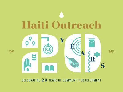 Haiti Outreach postcard icons haiti