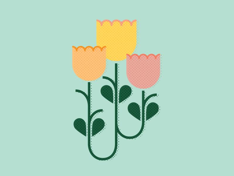 Folk Art Tulips folk tulips flowers
