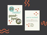 Hello/Goodbye Invitation