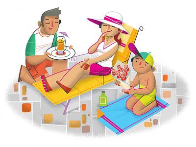 Spot Illustration summer vacation spring break artist representative digital illustration freelance illustrator illustration spot illustration anna goodson illustration