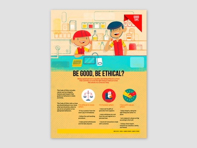Be Good, Be Ethical?, spot illustration and icons