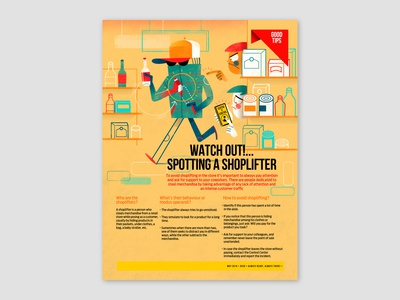 Watch Out!...Spotting A Shoplifter, spot illustration