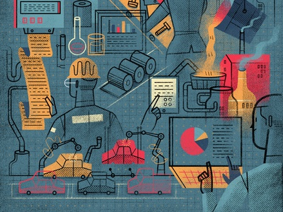 'Automatization', Editorial Illustration (Detail)