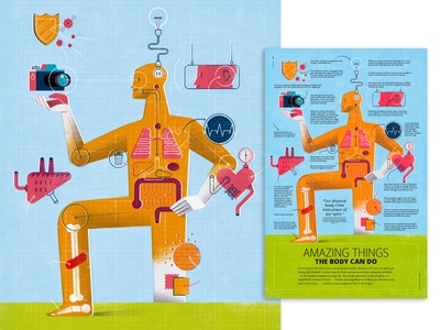 Full-Page Illustration: 'Amazing Things The Body Can Do'