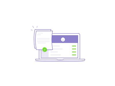Request demo section illustration landing page ui website laptop illustration