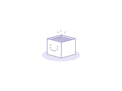 Happy Box ui web icon character happy box illustration