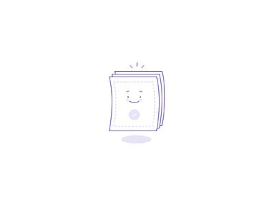 Happy paper illustration design website ui icon character illustration