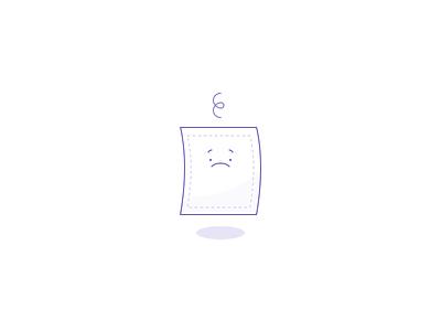 Sad Paper Illustration design website ui icon character illustration