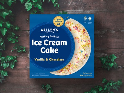 Ice Cream Cake Packaging - Vanilla & Chocolate all natural ice cream shop brand identity redesign package design packaging brand logo