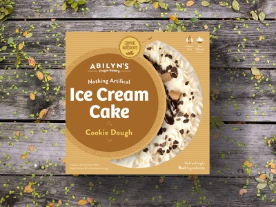 Ice Cream Cake Packaging - Cookie Dough brand identity all natural ice cream shop cake package design packaging design brand logo