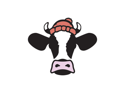 Chilly Cow farm animal cow illustration branding design brand logo