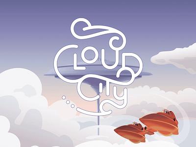 Cloud City Logo typography star wars concept illustration design brand logo