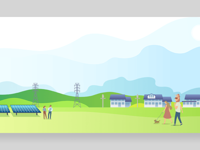 Community Solar branding solar energy illustrator illustration