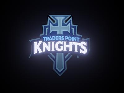 Glowing TP Logo blender 3d logo 3d glow logo design