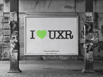 I ♥ UXR love new york ux design uxdesign uxui user experience research customers users milton glaser agile loop lean ux lean user testing user research uxresearch research