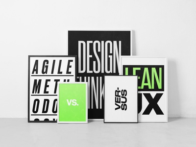 Agile vs Design Thinking vs LeanUX neue haas grotesk branding print design poster art poster agile development lean ux product design startup designops manager management typography leanux design thinking agile