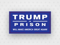 Trump in Prison built in colorado parody vector design brand logo president jail prison politics drumpf trump